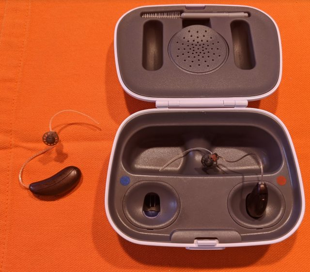 Audicus waves come with open ear domes by default, as well as a selection of sizes and optional closed domes. When not in use they fit in the provided micro-USB-powered charging case